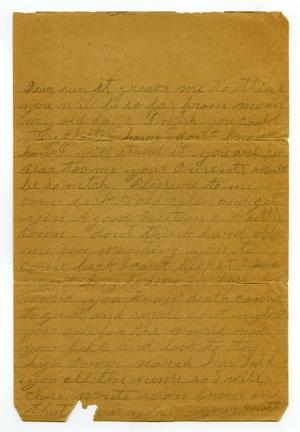 Primary view of object titled '[Letter from Mattie Wallace]'.