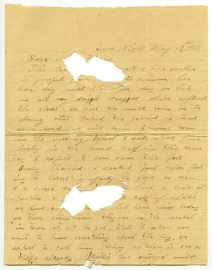 Primary view of [Letter from Will McGee to Mary Moore, May 17, 1903]