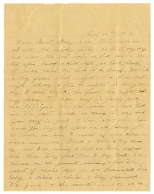 Primary view of object titled '[Letter from W. H. McGee to Mary Ann Moore, September 18, 1909]'.