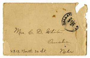 Primary view of object titled '[Envelope to Claude D. White, April 19, c.1910s]'.
