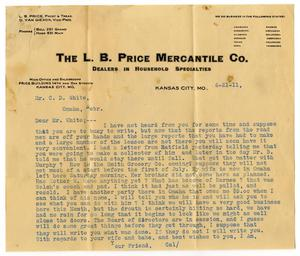 Primary view of object titled '[Letter to Claude D. White, June 21, 1911]'.