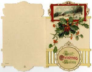 Primary view of object titled '[Christmas Card from Mettie Rucker, December 1914]'.
