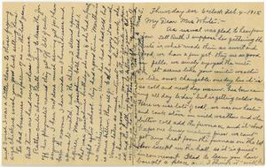 Primary view of object titled '[Letter from Mrs. S. to Linnet White, February 4, 1915]'.