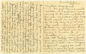 Primary view of object titled '[Letter from Cora Robertson to Linnet White, March 18, 1917]'.