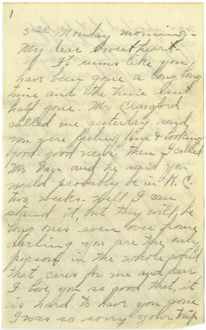 Primary view of object titled '[Letter from Linnet White]'.