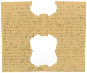 Primary view of [Letter to Linnet Moore and Family, June 1901]