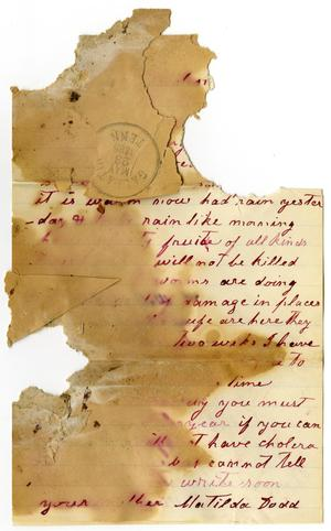 Primary view of [Letter from Matilda Dodd, May 1885]