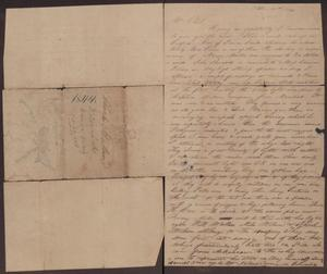 Primary view of [Letter from Henry S. Moore to Charles B. Moore, October 27, 1844]