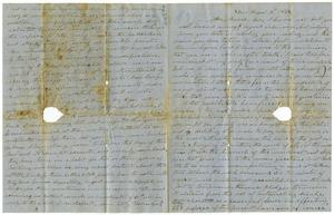 Primary view of [Letter from Thomas Dyerz to Moore, August 3, 1853]