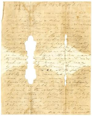 Primary view of object titled '[Letter from Charles B, Moore to Elvira Moore, September 29, 1856]'.