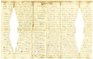 Primary view of [Letter from Charles B. Moore to Elvira Moore, October 13, 1856]