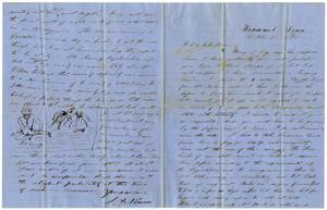 Primary view of [Letter from J. A. Nimmo to Henry and Charles Moore, October 23, 1858]