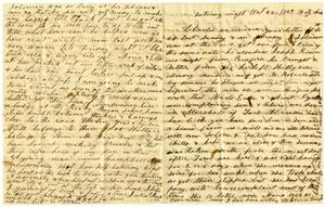 Primary view of [Letter from Julia L. Rucker to Charles B. Moore, October 22 - November 14, 1859]