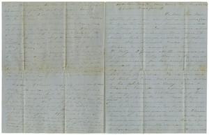 Primary view of [Letter from Charles Moore to W. S. Wallace, J. Cowan Bass and family, March 24, 1862]