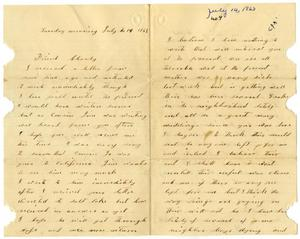 Primary view of [Letter from Susan Cluderson to Charles Moore, July 14, 1863]
