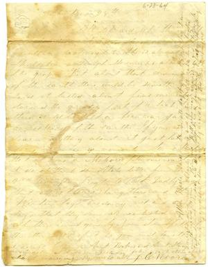 Primary view of [Letter from Josephus Moore to Charles Moore, June 28, 1864]