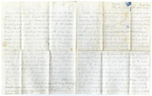 Primary view of [Letter from Henry Moore to Charles Moore, February 21, 1870]