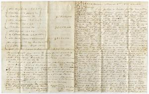 Primary view of [Letter from  from Charles Moore to Henry Moore, March 8, 1870]
