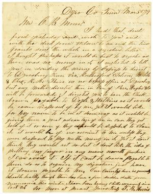 Primary view of [Letter from L. B. Harris to Charles Moore, March 5, 1871]