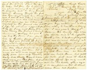 Primary view of [Letter from Jo S. Wallace to Charles Moore, May 21, 1871]