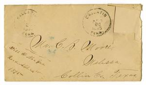 Primary view of object titled '[Envelope addressed to Charles B. Moore, April 20, 1895]'.