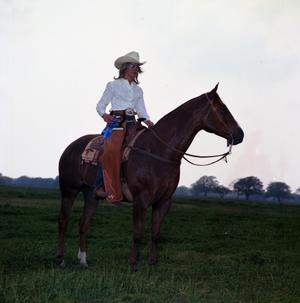 Primary view of object titled '[J. W. Hastings on Horse]'.