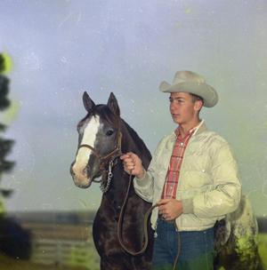 Primary view of object titled '[Dorsell Young with Horse]'.