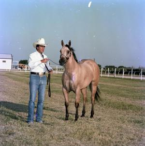 Primary view of object titled '[Mike Hughes with Horse]'.