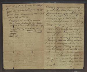 Primary view of object titled '[Agreement to Hire a Schoolteacher]'.