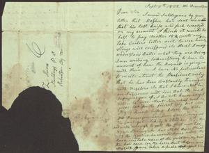 Primary view of [Letter from James Stuart to L. Moore, September 5, 1832]