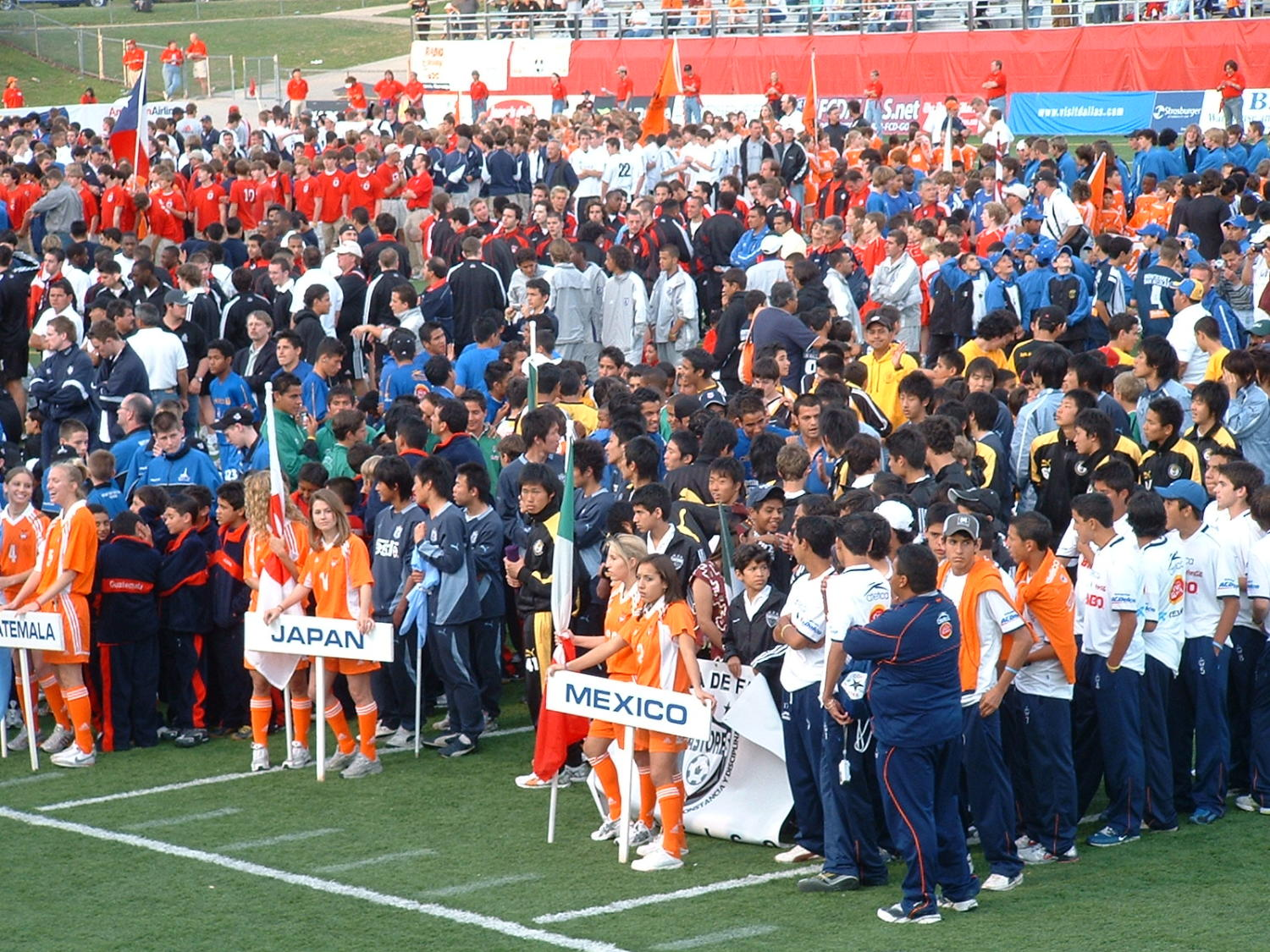 [Dallas Cup 2005 opening ceremony]                                                                                                      [Sequence #]: 1 of 1