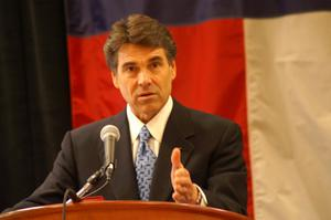 Primary view of object titled '[Rick Perry makes a point]'.