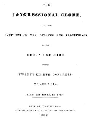 The Congressional Globe, Volume 14: Twenty-Eighth Congress, Second Session