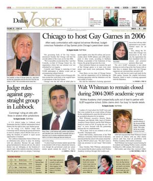 Dallas Voice (Dallas, Tex.), Vol. 20, No. 44, Ed. 1 Friday, March 5, 2004