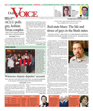Dallas Voice (Dallas, Tex.), Vol. 21, No. 33, Ed. 1 Friday, December 24, 2004