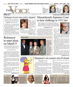 Dallas Voice (Dallas, Tex.), Vol. 21, No. 41, Ed. 1 Friday, February 25, 2005