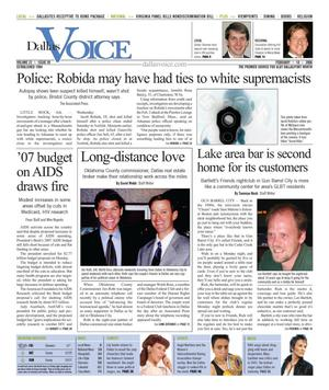Dallas Voice (Dallas, Tex.), Vol. 22, No. 39, Ed. 1 Friday, February 10, 2006