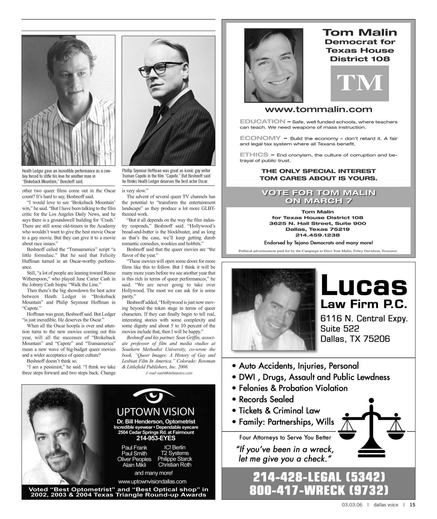 Dallas Voice (Dallas, Tex ), Vol  22, No  42, Ed  1 Friday, March 3