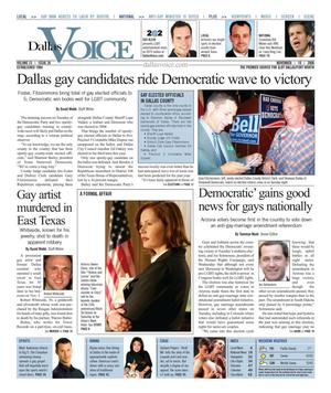 Dallas Voice (Dallas, Tex.), Vol. 23, No. 26, Ed. 1 Friday, November 10, 2006