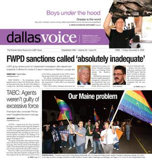 Primary view of object titled 'Dallas Voice (Dallas, Tex.), Vol. 26, No. 25, Ed. 1 Friday, November 6, 2009'.