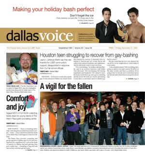 Dallas Voice (Dallas, Tex.), Vol. 26, No. 28, Ed. 1 Friday, November 27, 2009
