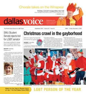 Primary view of object titled 'Dallas Voice (Dallas, Tex.), Vol. 26, No. 29, Ed. 1 Friday, December 4, 2009'.