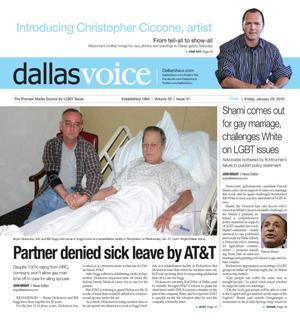 Dallas Voice (Dallas, Tex.), Vol. 26, No. 37, Ed. 1 Friday, January 29, 2010