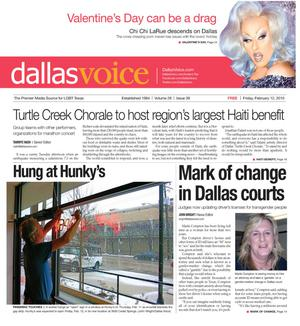 Primary view of object titled 'Dallas Voice (Dallas, Tex.), Vol. 26, No. 39, Ed. 1 Friday, February 12, 2010'.
