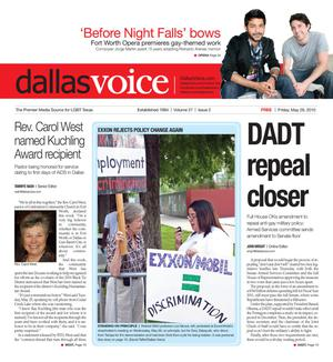 Dallas Voice (Dallas, Tex.), Vol. 27, No. 2, Ed. 1 Friday, May 28, 2010
