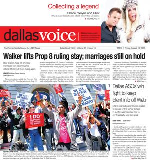 Dallas Voice (Dallas, Tex.), Vol. 27, No. 13, Ed. 1 Friday, August 13, 2010
