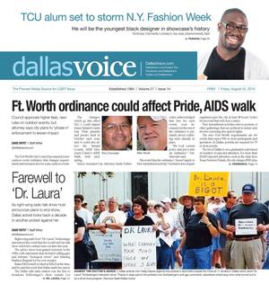 Primary view of object titled 'Dallas Voice (Dallas, Tex.), Vol. 27, No. 14, Ed. 1 Friday, August 20, 2010'.