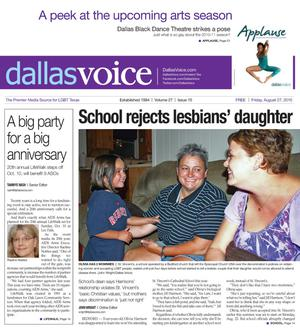 Dallas Voice (Dallas, Tex.), Vol. 27, No. 15, Ed. 1 Friday, August 27, 2010