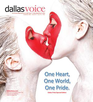 Primary view of object titled 'Dallas Voice (Dallas, Tex.), Vol. 27, No. 18, Ed. 1 Friday, September 17, 2010'.