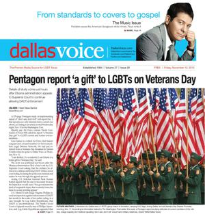 Dallas Voice (Dallas, Tex.), Vol. 27, No. 26, Ed. 1 Friday, November 12, 2010